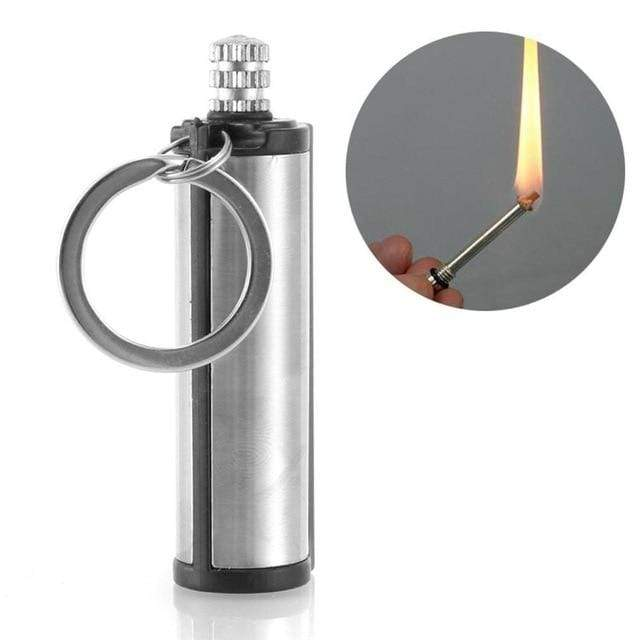 Lukowulf's Camping Haven 1PCS 3PCS Steel Fire Starter Flint Match Lighter Keychain On For Outdoor Camping Hiking Instant Emergency Survival Gear Tools