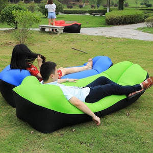 Lukowulf's Camping Haven 2019 Trend Outdoor Products Fast Infaltable Air Sofa Bed Good Quality Sleeping Bag Inflatable Air Bag Lazy bag Beach Sofa Laybag