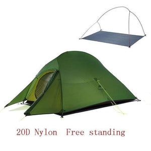 Lukowulf's Camping Haven 20D Army green Naturehike Ultralight Tent With free Mat