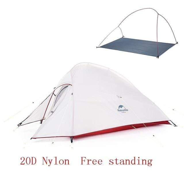 Lukowulf's Camping Haven 20D Gray Naturehike Ultralight Tent With free Mat