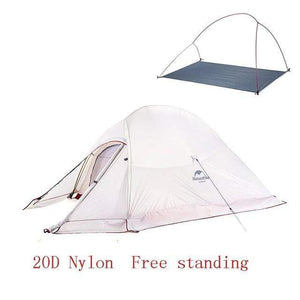 Lukowulf's Camping Haven 20D Gray(with Skirt) Naturehike Ultralight Tent With free Mat