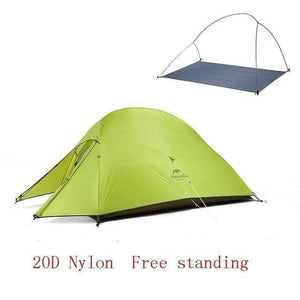 Lukowulf's Camping Haven 20D Green Naturehike Ultralight Tent With free Mat