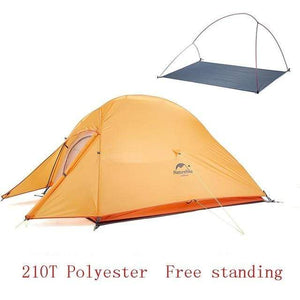 Lukowulf's Camping Haven 210T Orange Naturehike Ultralight Tent With free Mat
