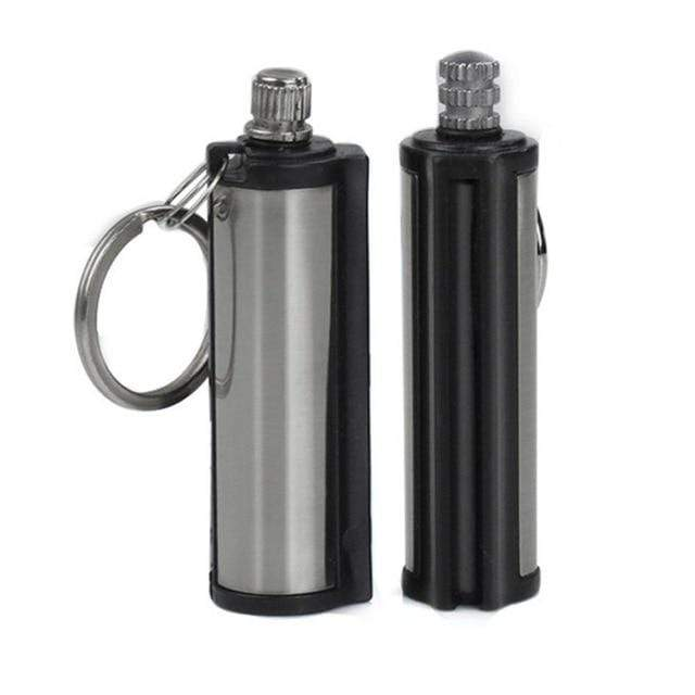 Lukowulf's Camping Haven 2PCS 3PCS Steel Fire Starter Flint Match Lighter Keychain On For Outdoor Camping Hiking Instant Emergency Survival Gear Tools
