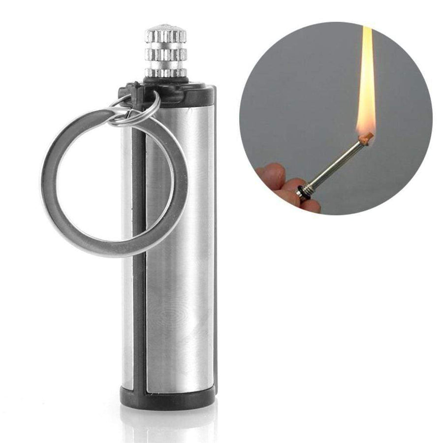Lukowulf's Camping Haven 3PCS Steel Fire Starter Flint Match Lighter Keychain On For Outdoor Camping Hiking Instant Emergency Survival Gear Tools