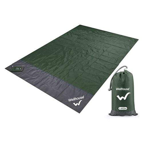 Lukowulf's Camping Haven Army Green / 2m x1.4m Camping Mat Waterproof Beach Blanket Outdoor Portable Picnic  Ground Mat Mattress Outdoor Camping Picnic Mat blanket 1.4*2m
