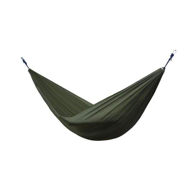 Lukowulf's Camping Haven Army Green Portable Hammock 2 Person Outdoor Camping Survival Hammock Garden Swing Hunting Hanging Sleeping Chair Travel Parachute Hammocks