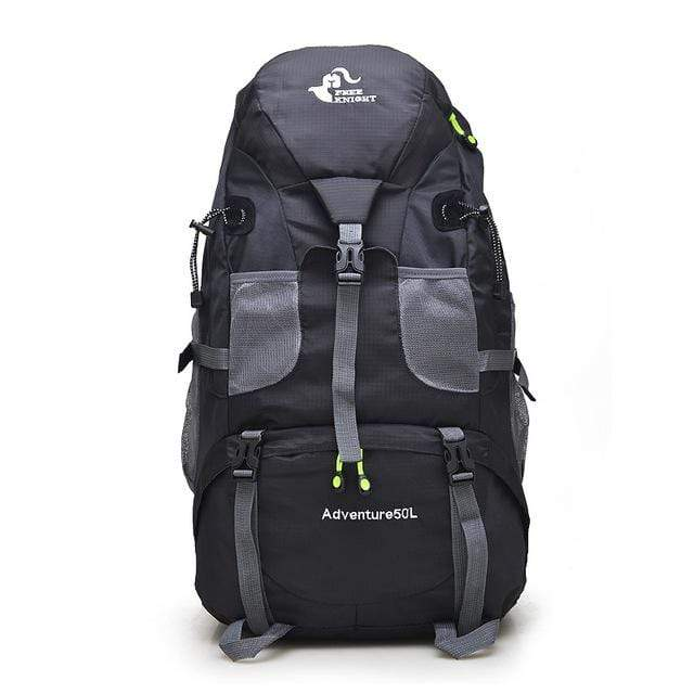 Lukowulf's Camping Haven Black 50L Hiking Backpack