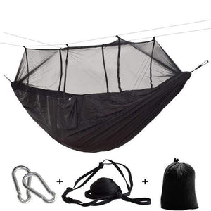 Lukowulf's Camping Haven Black color / China 1-2 Person Outdoor Mosquito Net Parachute Hammock Camping Hanging Sleeping Bed Swing Portable  Double  Chair Hamac Army Green