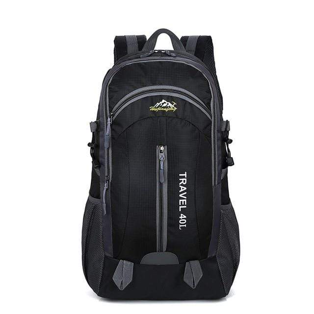 Lukowulf's Camping Haven Black USB Charging 40L Travel Backpacks