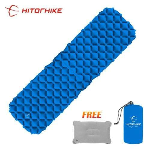 Lukowulf's Camping Haven blue 1 / China Sleeping Pad Compact Camping Backpacking Air Pad Lightweight Inflatable Sleeping Mat Ultralight Portable picnic moistureproof