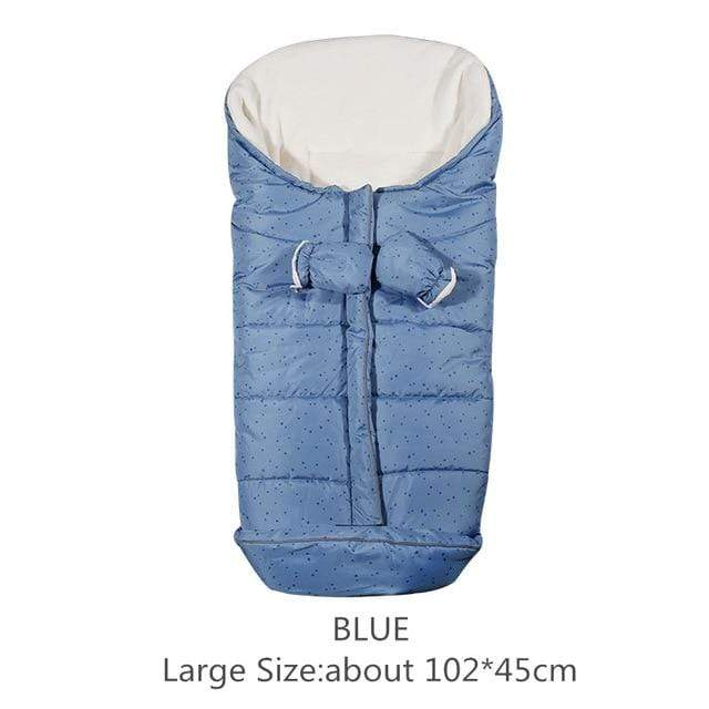 Lukowulf's Camping Haven Blue 102x45cm Autumn Winter Warm Baby Sleeping Bag Sleepsack For Stroller,Soft Sleeping bag for baby,Baby slaapzak,sac couchage naissance
