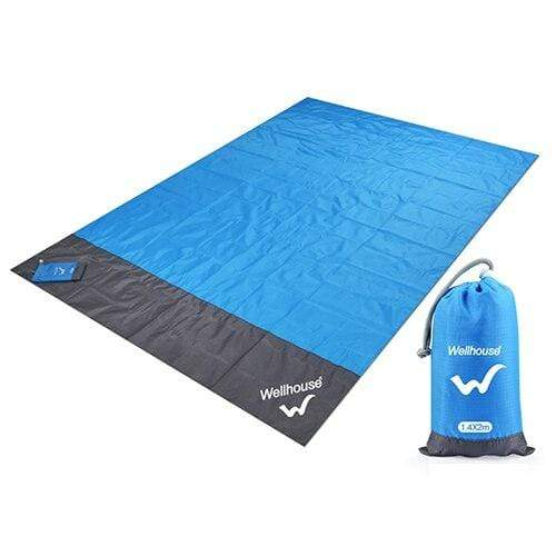 Lukowulf's Camping Haven blue / 2m x1.4m Camping Mat Waterproof Beach Blanket Outdoor Portable Picnic  Ground Mat Mattress Outdoor Camping Picnic Mat blanket 1.4*2m
