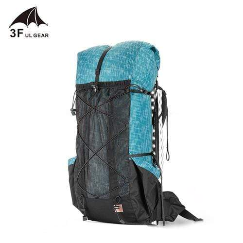 Lukowulf's Camping Haven Blue 3F UL GEAR Water-resistant Hiking Backpack Lightweight Camping Pack Travel Mountaineering Backpacking Trekking Rucksacks 40+16L
