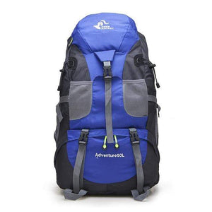 Lukowulf's Camping Haven Blue 50L Hiking Backpack