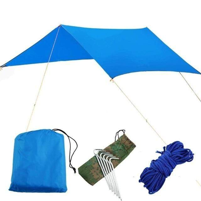 Lukowulf's Camping Haven blue canopy / China 1-2 Person Outdoor Mosquito Net Parachute Hammock Camping Hanging Sleeping Bed Swing Portable  Double  Chair Hamac Army Green