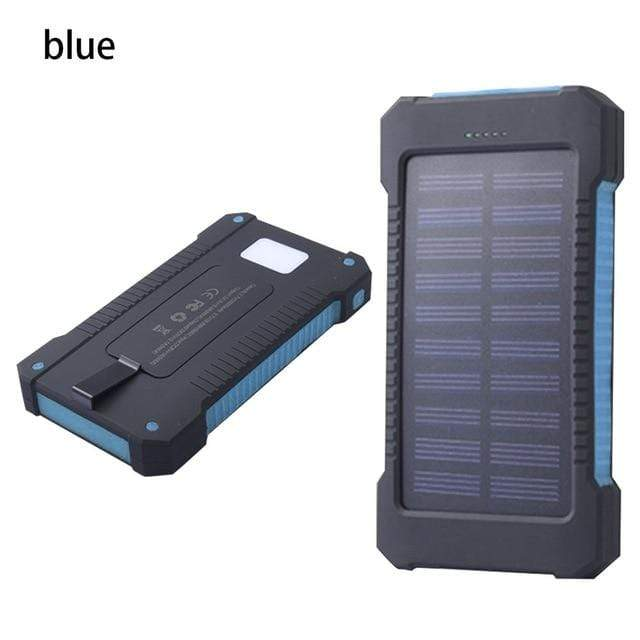 Lukowulf's Camping Haven Blue Solar Power Bank