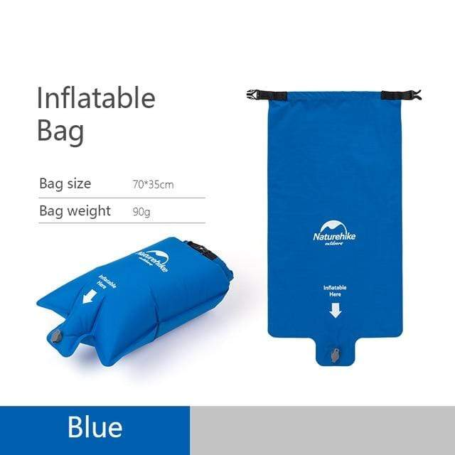 Lukowulf's Camping Haven Blue Inflatable bag Naturehike Nylon TPU Sleeping Pad Lightweight Moisture-proof Air Mattress Portable Inflatable Mattress Camping Mat NH19Z032-P