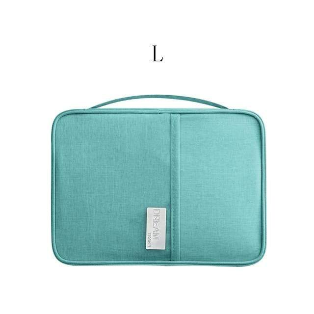 Lukowulf's Camping Haven blue L Travel Organizer bag
