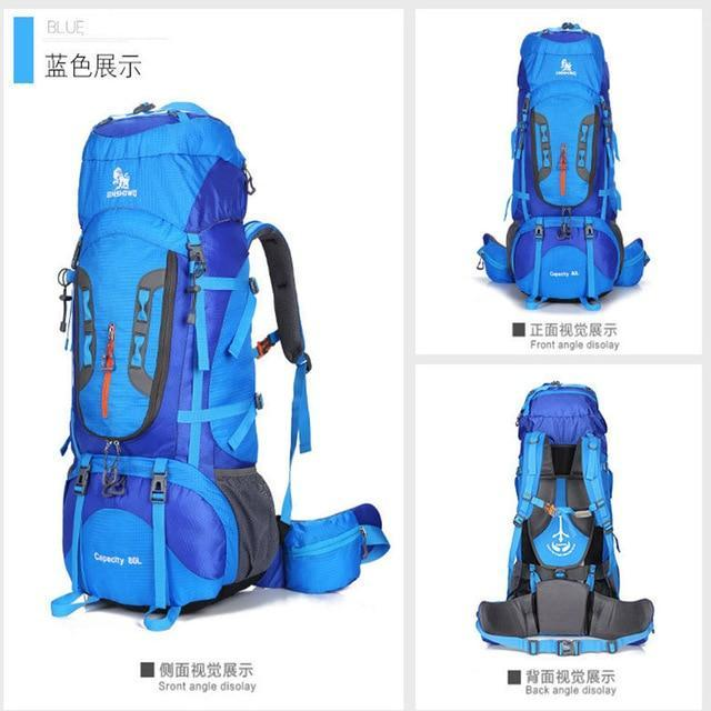 Lukowulf's Camping Haven Blue / Other 80L Outdoor camping backpack Hiking Climbing Nylon Bag Superlight Sport Travel Package Brand Knapsack Rucksack Shoulder bags 299