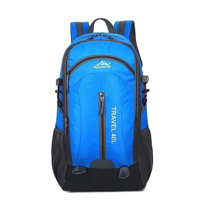Lukowulf's Camping Haven Blue USB Charging 40L Travel Backpacks