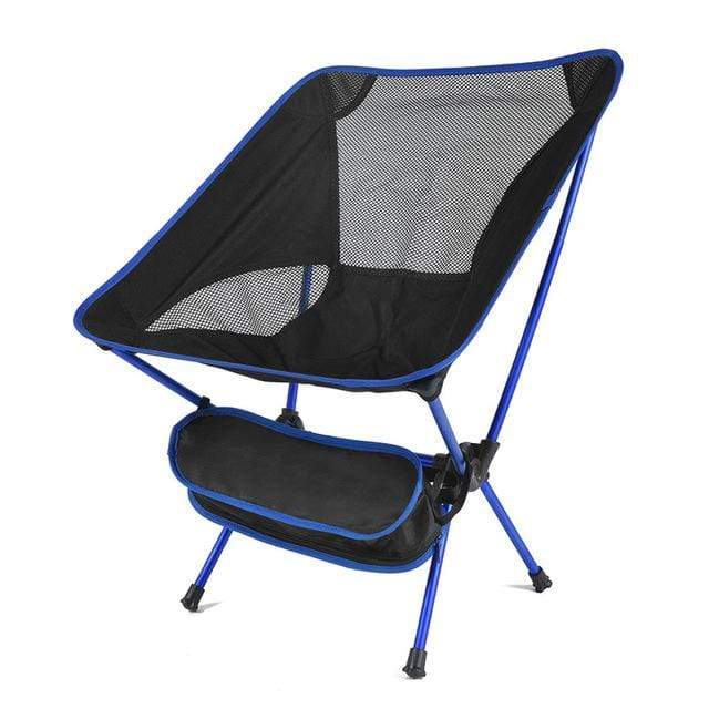 Lukowulf's Camping Haven China / Blue Travel Ultralight Folding Chair Superhard High Load Outdoor Camping Chair Portable Beach Hiking Picnic Seat Fishing Tools Chair