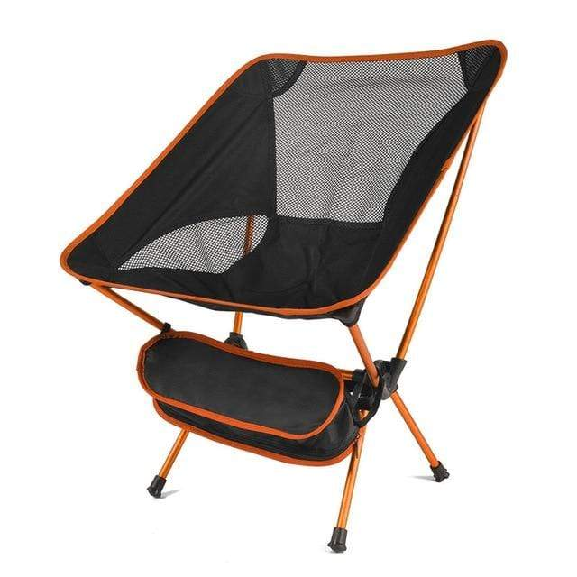 Lukowulf's Camping Haven China / Orange Travel Ultralight Folding Chair Superhard High Load Outdoor Camping Chair Portable Beach Hiking Picnic Seat Fishing Tools Chair