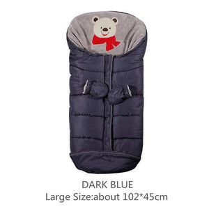 Lukowulf's Camping Haven Dark Blue 102x45cm Autumn Winter Warm Baby Sleeping Bag Sleepsack For Stroller,Soft Sleeping bag for baby,Baby slaapzak,sac couchage naissance