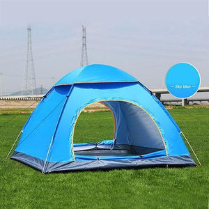 Lukowulf's Camping Haven Double door blue Anti-UV Waterproof Ultralight Tent
