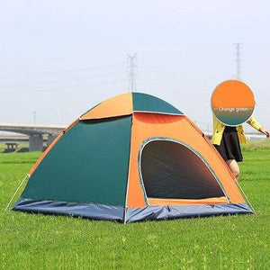 Lukowulf's Camping Haven Double door orange Anti-UV Waterproof Ultralight Tent