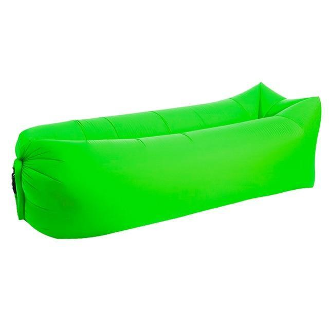 Lukowulf's Camping Haven Fruit green Square 2019 Trend Outdoor Products Fast Infaltable Air Sofa Bed Good Quality Sleeping Bag Inflatable Air Bag Lazy bag Beach Sofa Laybag
