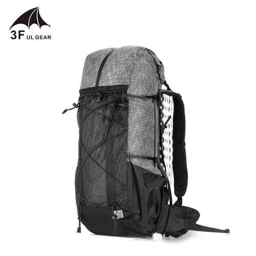 Lukowulf's Camping Haven Gray 3F UL GEAR Water-resistant Hiking Backpack Lightweight Camping Pack Travel Mountaineering Backpacking Trekking Rucksacks 40+16L
