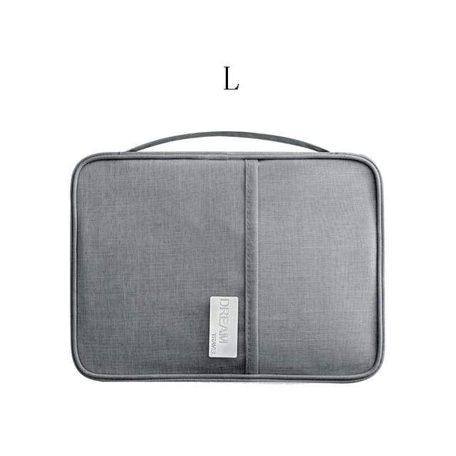 Lukowulf's Camping Haven gray L Travel Organizer bag