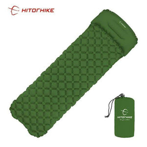 Lukowulf's Camping Haven green 1 / China Sleeping Pad Compact Camping Backpacking Air Pad Lightweight Inflatable Sleeping Mat Ultralight Portable picnic moistureproof
