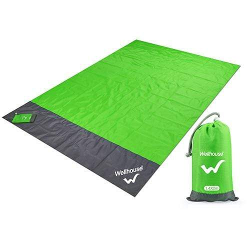 Lukowulf's Camping Haven green / 2m x1.4m Camping Mat Waterproof Beach Blanket Outdoor Portable Picnic  Ground Mat Mattress Outdoor Camping Picnic Mat blanket 1.4*2m