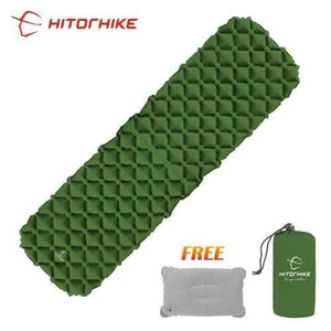 Lukowulf's Camping Haven green / China Sleeping Pad Compact Camping Backpacking Air Pad Lightweight Inflatable Sleeping Mat Ultralight Portable picnic moistureproof
