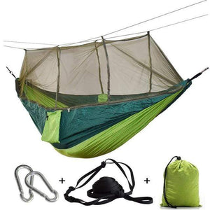 Lukowulf's Camping Haven green green net / China 1-2 Person Outdoor Mosquito Net Parachute Hammock Camping Hanging Sleeping Bed Swing Portable  Double  Chair Hamac Army Green