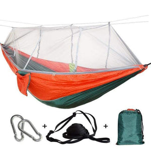 Lukowulf's Camping Haven green red / China 1-2 Person Outdoor Mosquito Net Parachute Hammock Camping Hanging Sleeping Bed Swing Portable  Double  Chair Hamac Army Green