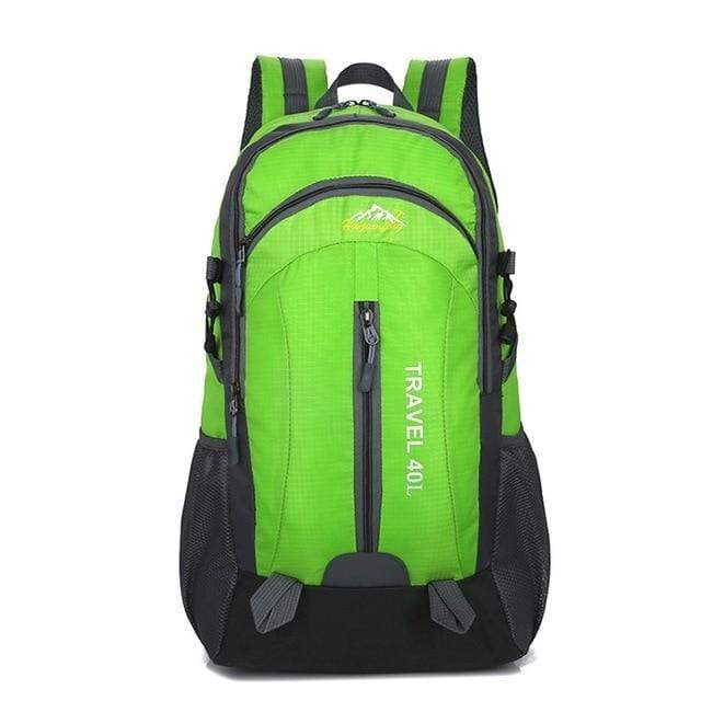 Lukowulf's Camping Haven Green USB Charging 40L Travel Backpacks
