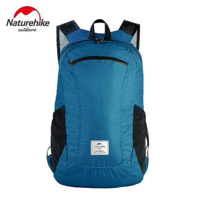 Lukowulf's Camping Haven Lake Blue NatureHike Foldable Backpack Ultra Lightweight Packable Backpack Hiking Daypack, Waterproof Handy Camping Outdoor Backpack