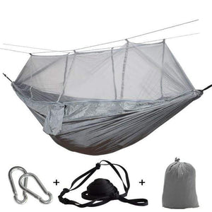 Lukowulf's Camping Haven light green / China 1-2 Person Outdoor Mosquito Net Parachute Hammock Camping Hanging Sleeping Bed Swing Portable  Double  Chair Hamac Army Green