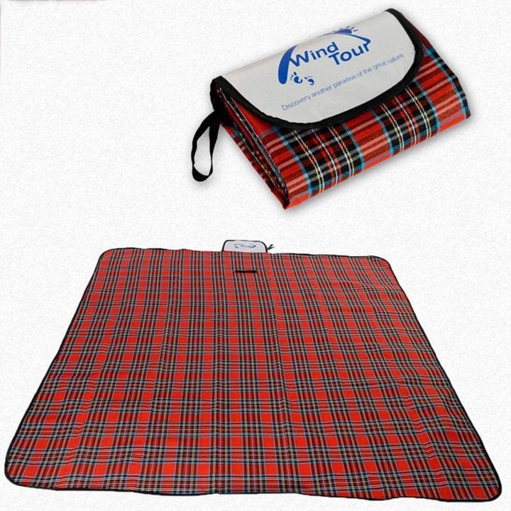 Lukowulf's Camping Haven New Outdoor Beach Picnic Folding Camping Mat Multiplayer Waterproof Sleeping Camping Pad Mat Moistureproof Plaid Blanket