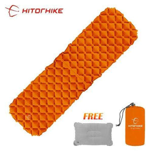 Lukowulf's Camping Haven orange 1 / China Sleeping Pad Compact Camping Backpacking Air Pad Lightweight Inflatable Sleeping Mat Ultralight Portable picnic moistureproof