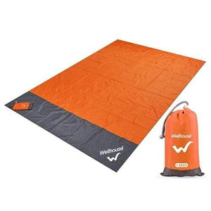 Lukowulf's Camping Haven orange / 2m x1.4m Camping Mat Waterproof Beach Blanket Outdoor Portable Picnic  Ground Mat Mattress Outdoor Camping Picnic Mat blanket 1.4*2m