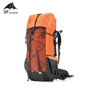 Lukowulf's Camping Haven Orange 3F UL GEAR Water-resistant Hiking Backpack Lightweight Camping Pack Travel Mountaineering Backpacking Trekking Rucksacks 40+16L