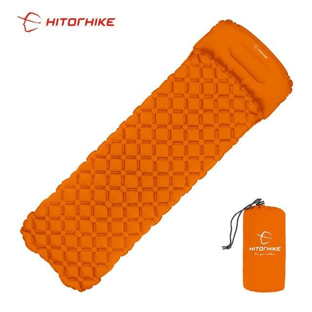 Lukowulf's Camping Haven orange / China Sleeping Pad Compact Camping Backpacking Air Pad Lightweight Inflatable Sleeping Mat Ultralight Portable picnic moistureproof