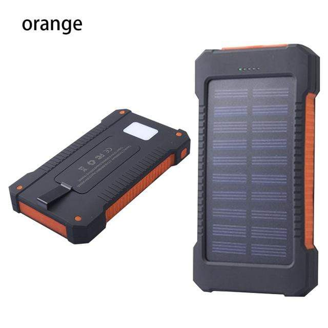 Lukowulf's Camping Haven Orange Solar Power Bank