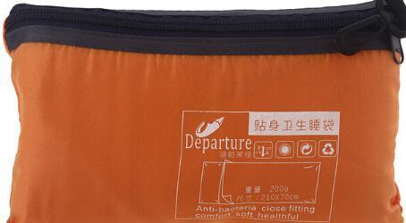 Lukowulf's Camping Haven Orange Polyester Camping Single Sleeping Bags