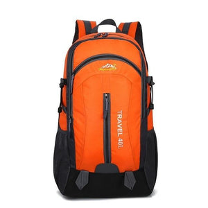 Lukowulf's Camping Haven Orange USB Charging 40L Travel Backpacks