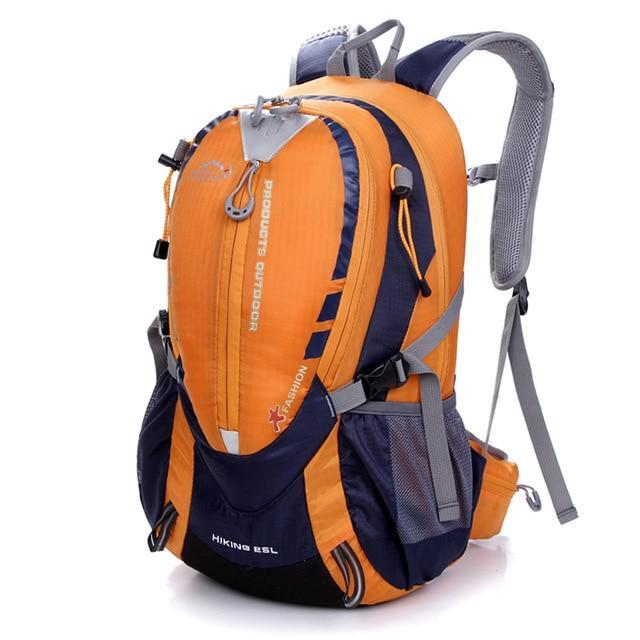 Lukowulf's Camping Haven Orange Waterproof Climbing Backpack Rucksack 25L Outdoor Sports Bag Travel Backpack Camping Hiking Backpack Women Trekking Bag For Men